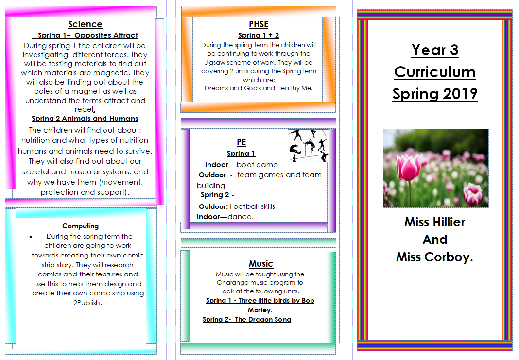 Year 3 Spring term Curriculum Leaflet 2019-2020 PAGE 1